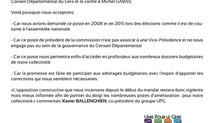 Conseil Départemental : La présidence de la commission des finances est confiée à l'opposition