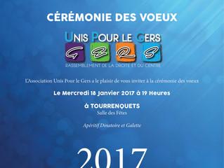 """Cérémonie des Voeux """"Unis Pour le Gers"""