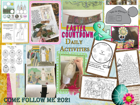 Week of Easter, Count Down Activities March 29- April 4