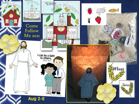 Come follow Me- For Primary , Aug 2-8, D&C 85-87, Free LDS Primary lesson helps