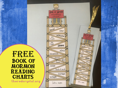 Come Follow Me, Book of Mormon Reading Chart and Book Marks