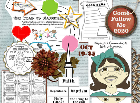 Come Follow Me 2020, Oct 19-25, 3 Nephi 27-4 Nephi, Free LDS Primary lesson helps and Printable's