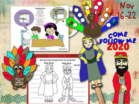 Come Follow Me 2020, Nov 16-22, Ether 6-11, free LDS primary lesson helps and printable's.