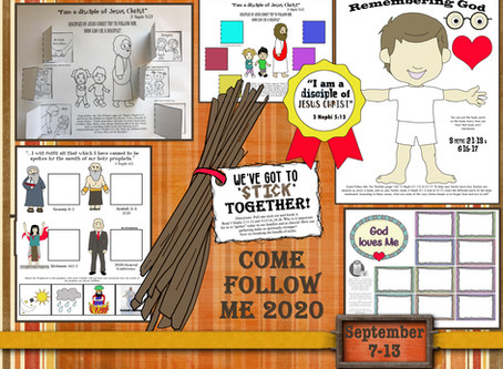 Come Follow Me 2020, September 7-13, 3 Nephi 1-7, LDS free primary lesson helps