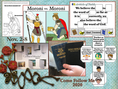Mormon 7-9, Nov 2-8 Come follow Me 2020, free LDS primary lesson helps, free printable's