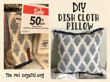 DIY Dish cloth pillow