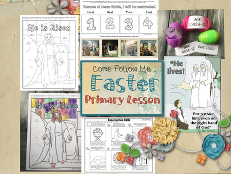 Easter, March 29-April 4, LDS Free Primary lesson helps and printable's.