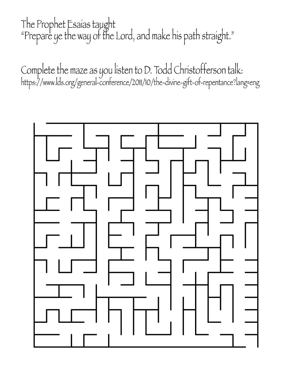 Repentance maze