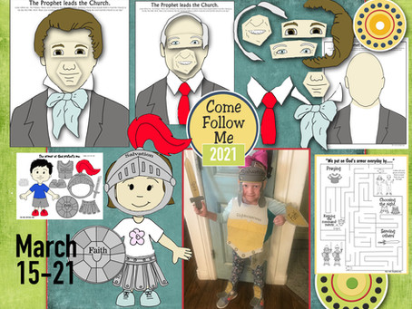 Come Follow Me -For Primary, March 15-21, D&C 27-28, Free LDS primary lesson helps, and printable's.