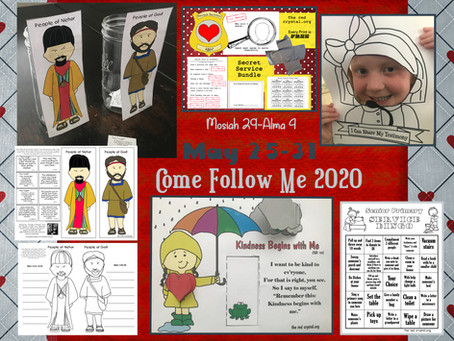 Come Follow Me 2020, May 25-31, Mosiah 29-Alma 4, LDS Primary Lesson Helps