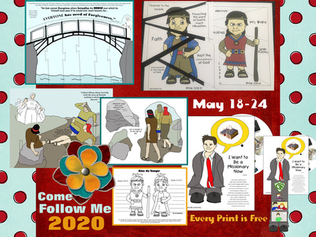 Come Follow Me 2020, May 18-24, Mosiah 25-25, LDS Primary Lesson Helps, Free Printable's