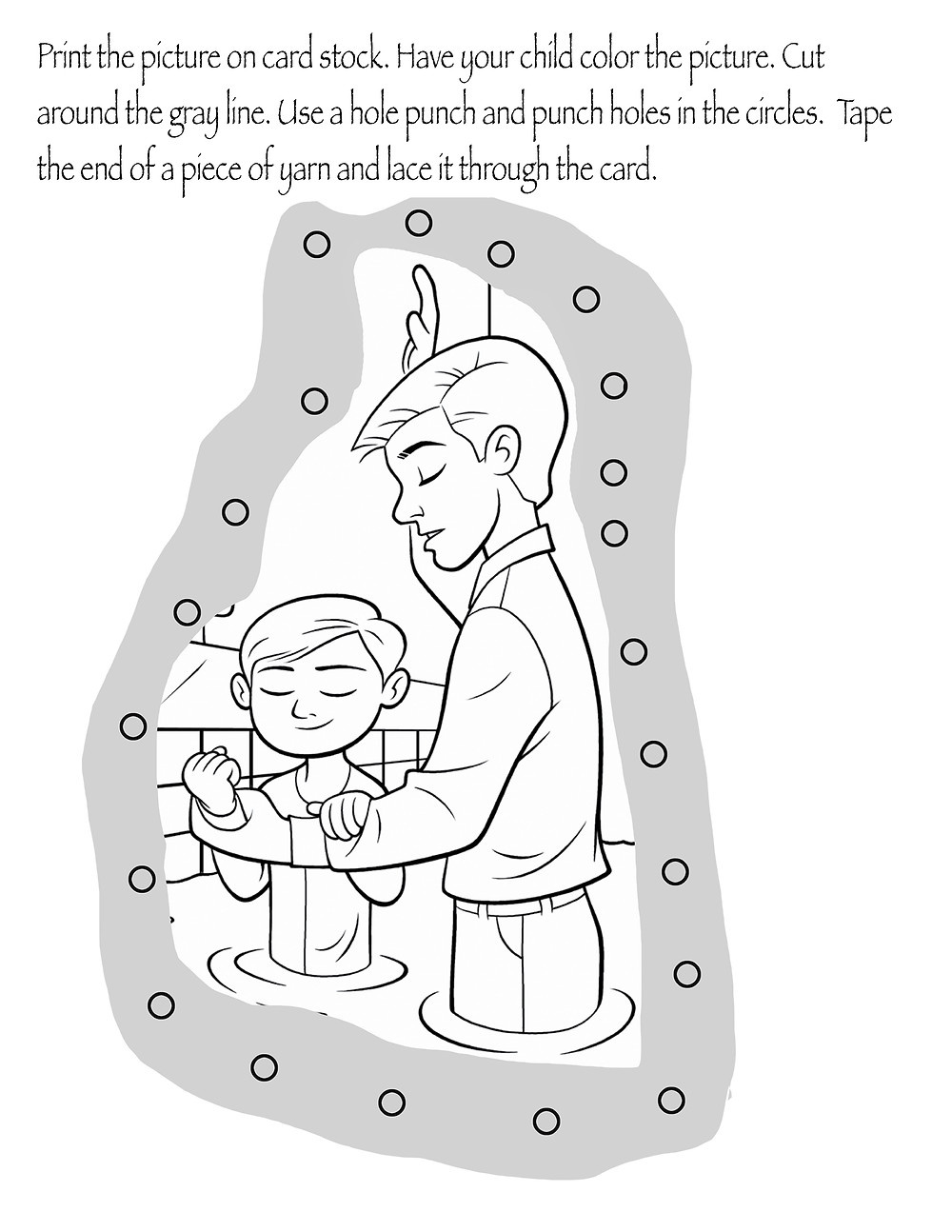 Baptism lace Card