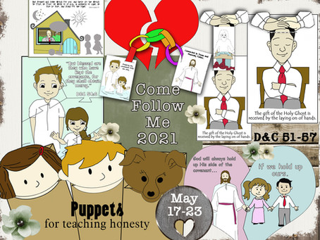 Come follow Me- For Primary, Free LDS primary lesson helps, May 17-23, D&C 51-57, Free Prints