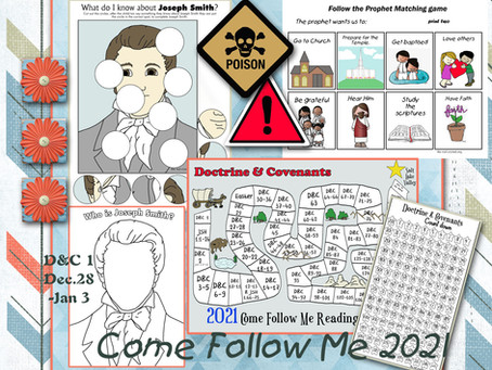 Doctrine and Covenants 1, Come Follow Me 2021, Free primary lesson helps, and printable's