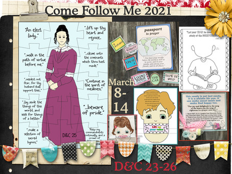 Come follow me- for Primary 2021, D&C 23-26, March 8-14, Free LDS Primary lesson Helps and Prints.