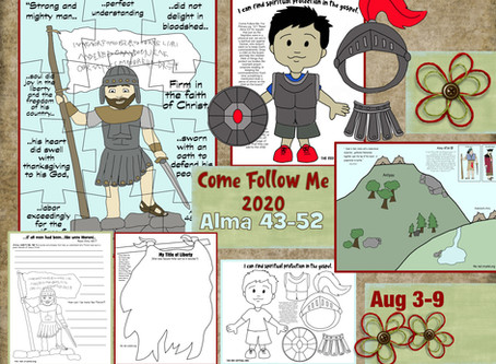 Come Follow Me 2020, Aug 3-9, Free LDS Primary lesson helps for Alma 43-52