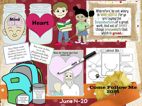 Come follow Me- For Primary, June 14-20, D&C 64-66, Free LDS primary lesson helps