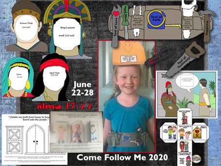 Come follow Me 2020, Alma 17-22, June 22-18, LDS Primary Lesson Helps, for children and kids