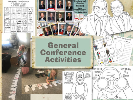 LDS General Conference, Free Printable's and packets.