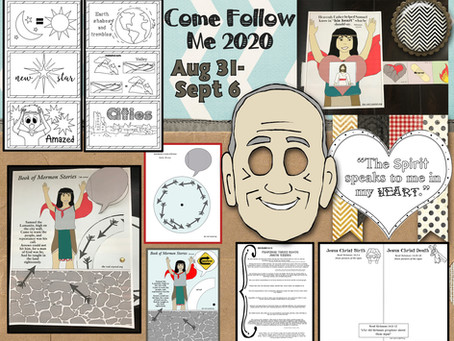 Come follow Me 2020, Aug. 31-Sept. 6, Helaman 13-16. Free Primary lesson helps for LDS children