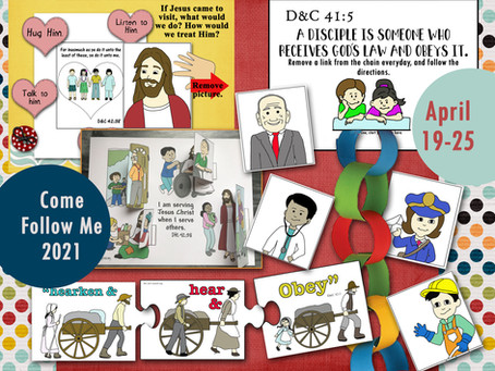 Come Follow Me- For Primary 2021 , D&C 41-44, April 19-25, Free LDS Primary lesson helps and prints.