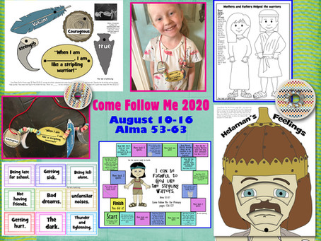 Come Follow Me 2020, Aug 10-16, Alma 53-63, Free LDS primary lesson helps