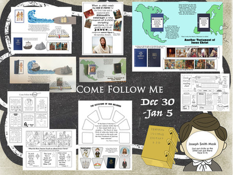 Come Follow Me, Intro pages of the Book of Mormon. Dec 30-Jan 5
