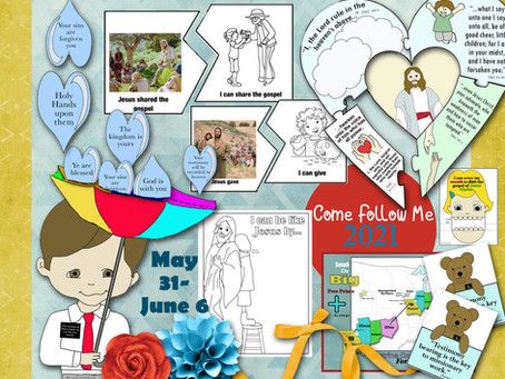 Come follow me- for Primary, May 31- June 6, D&C 60-62, Free LDS Primary lesson helps, printable's.