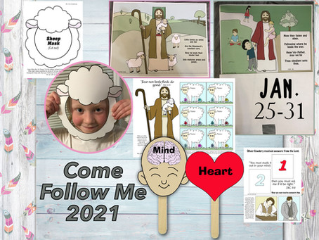 Come Follow Me 2021, Jan 25-31, D&C 6-9, Free LDS primary lesson helps, Free LDS printable's