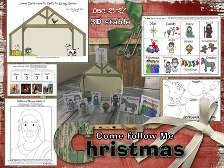 Christmas, Dec 21-27, Come Follow Me 2020, Free LDS primary lesson helps