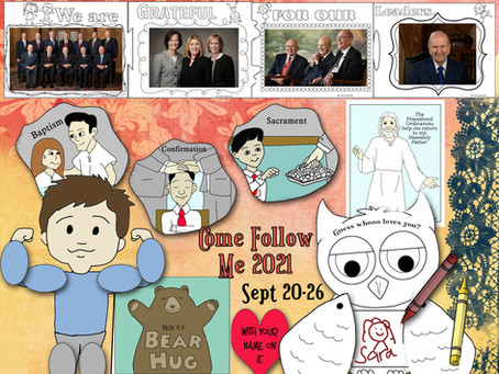 Come follow me- for Primary, D&C 106-108, Sept. 20-26, Free LDS primary lesson helps