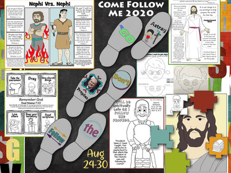 Come Follow Me 2020, Aug 24-30, Helaman 7-12, LDS free primary lesson helps