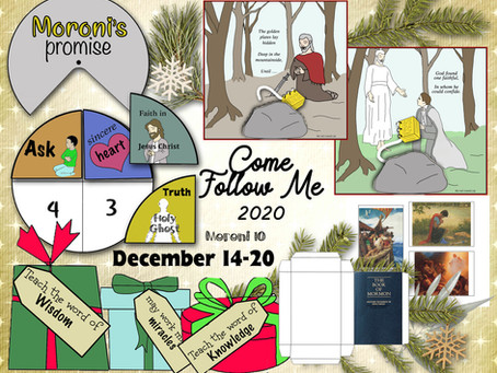 Come Follow Me 2020, Moroni 10, Dec. 14-20, Free LDS primary lesson helps, printable's