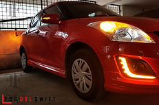 fog drl for suzuki swift installed at ff car accessories, Chennai