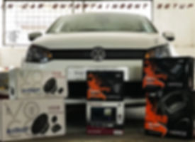 In car entertainment setup designed and installed by team ff car accessories, Chennai. Volkswagen vento