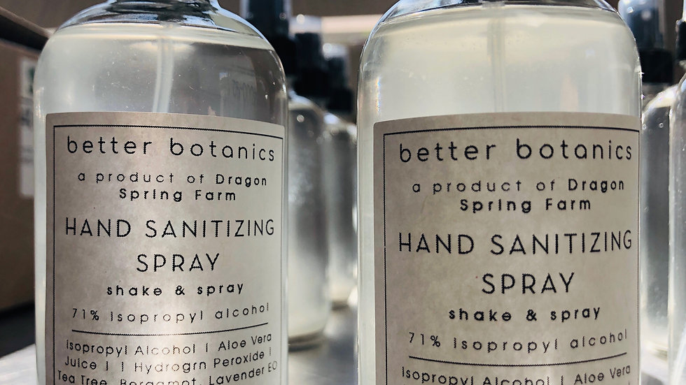 Hand Sanitizing Spray