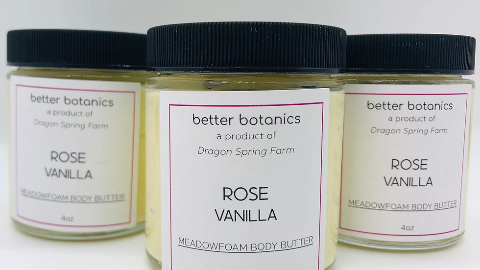 Rose + Vanilla Meadowfoam Body Cream