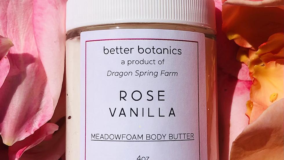 Rose + Vanilla Meadowfoam Body Cream