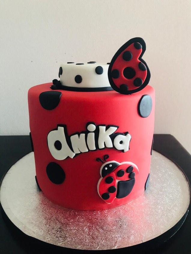ladybug tall cake