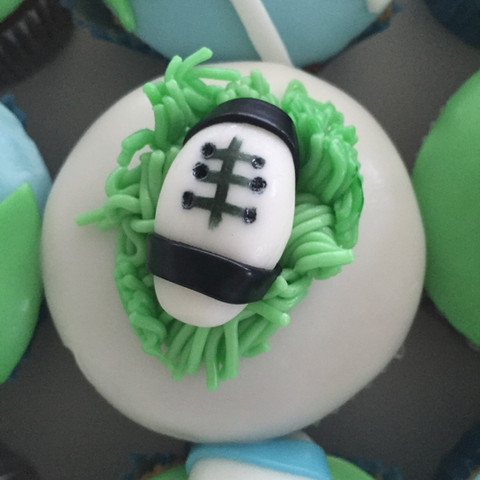 Cupcakes rugby