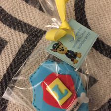 dog theme cookies - wrapped