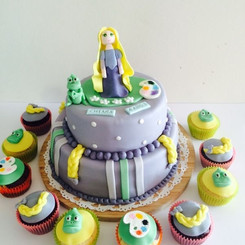 Cupcakes R a p u n z e l