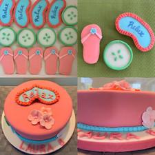 Spa theme loose cookies and cake