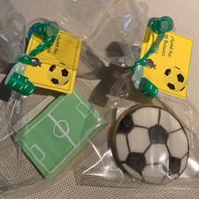 Football wrapped cookie