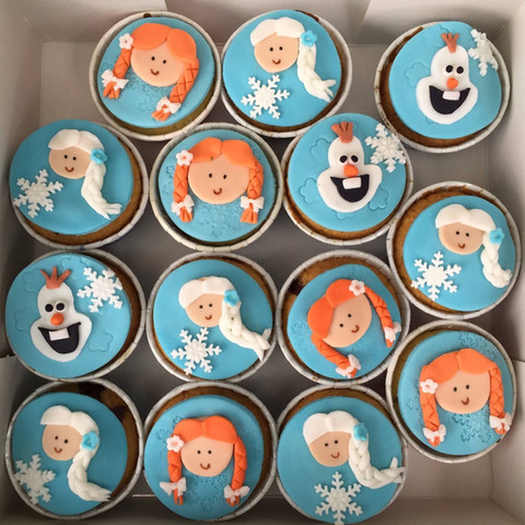 Cupcakes the frozen girl