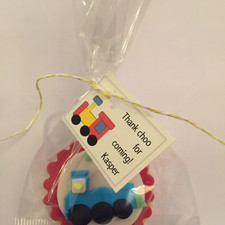 train cookie - wrapped
