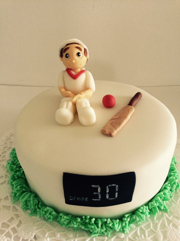batsman cake