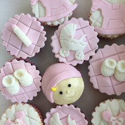 Cupcakes Baby Shower girl