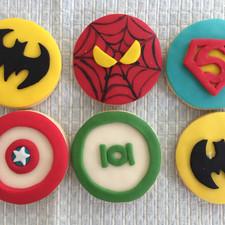 super heroes cookies
