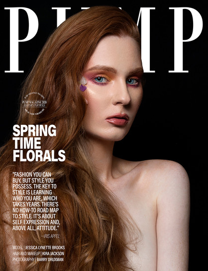 Pump Magazine, February 2020  Photo Credit: Barry Druxman  Makeup and Hair Credit: Kira Jackson  Los Angeles, California, United States